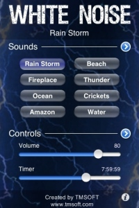 Original White Noise iPhone application
